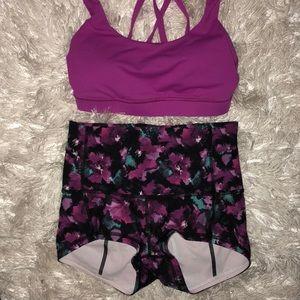 Lululemon sports bra and spandex